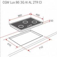 Kích thước thực tế của bép ga cgw lux 86 3g