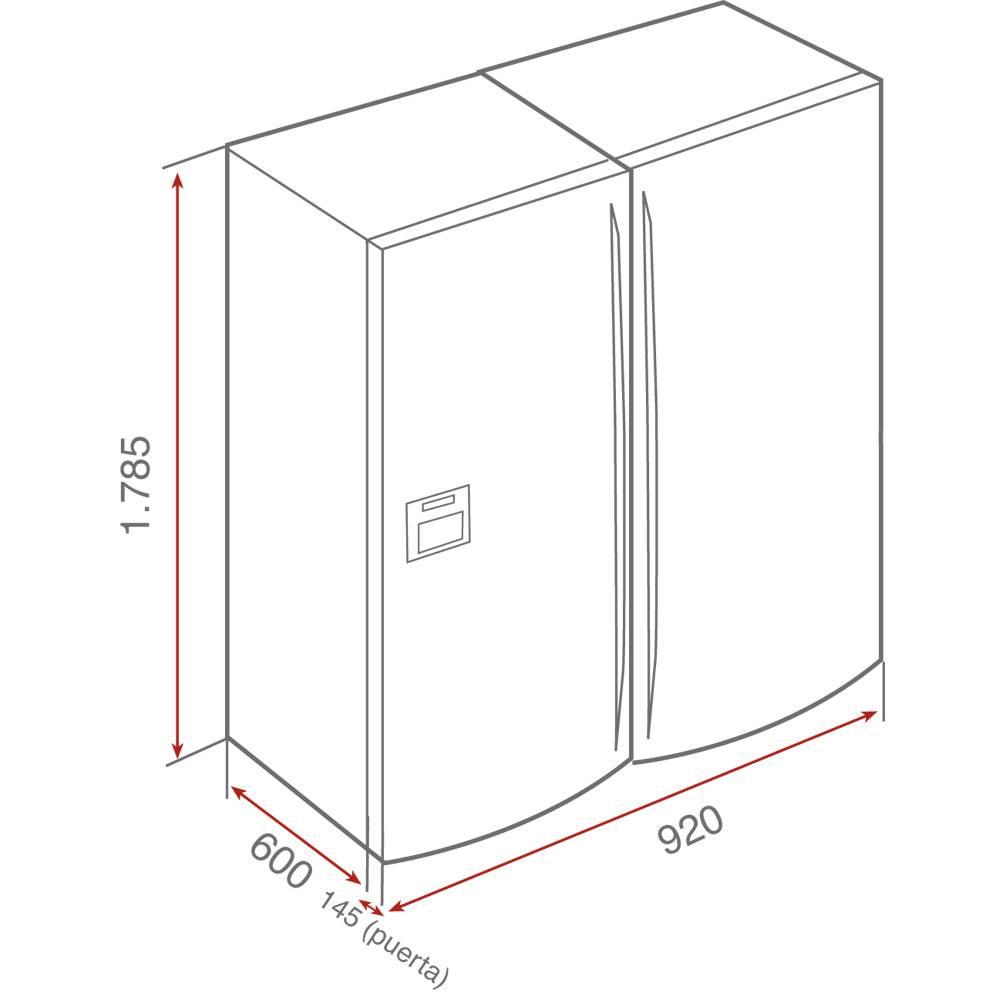 Kích thước lắp đặt tủ lạnh cao cấp nhập khẩu châu Âu NF2 650X