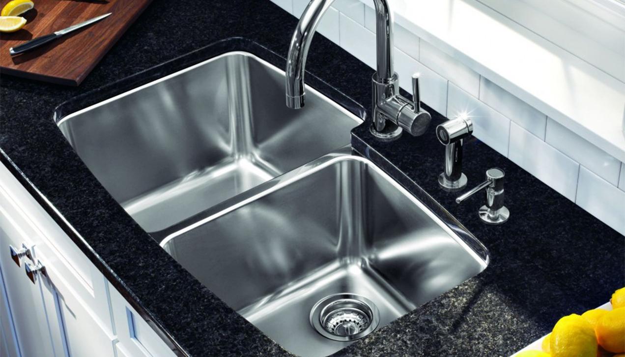 Cách làm sạch chậu rửa bát nhanh và hiệu quả