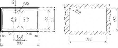 Lưu ý về kích thước lắp đặt chậu rửa bát Teka PREMIUM 2B