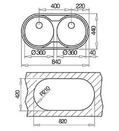 Lưu ý về kích thước lắp đặt chậu rửa bát Teka STAGE 80P 2B 1D