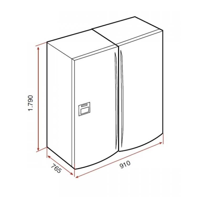 Kích thước thực tế của tủ lạnh side by side teka NFE3 650X
