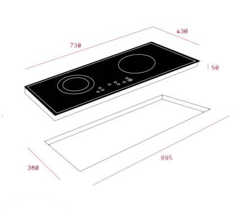 Kích thước bếp từ teka IR 721