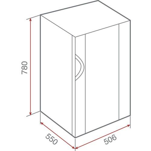 Kích thước lắp đặt tủ rượu teka RV26E