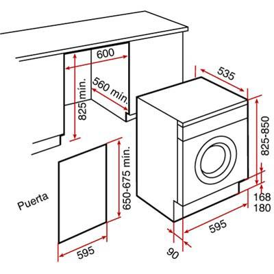 lắp đặt máy giặt sấy Li2 1260 hãng Teka