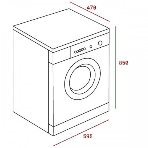 Kích thước lắp đặt máy giặt teka TKX3 1260