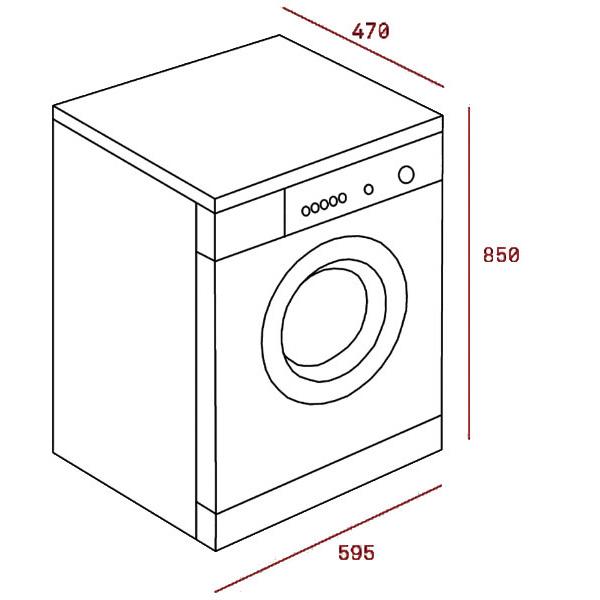 Kích thước máy giặt teka TKX3 1260