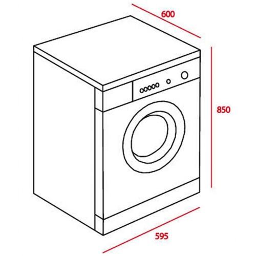 Kích thước máy giặt Teka TK2 1270
