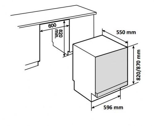 Kích thước chi tiết máy rửa bát Teka DW880FI