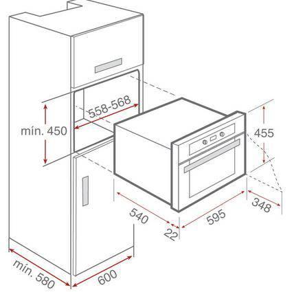 Lưu ý về kích thước lắp đặt lò nướng Teka HKL 840