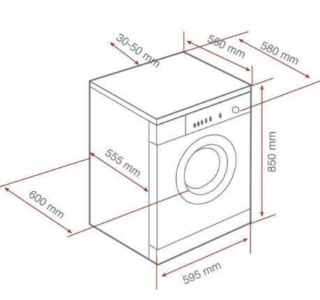 Lưu ý về kích thước lắp đặt máy giặt đứng độc lập Teka TK2 1070