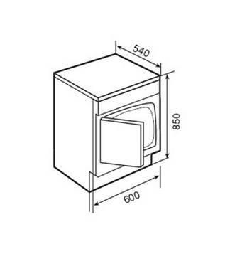 Lưu ý về kích thước lắp đặt máy sấy Teka TKS2 650C