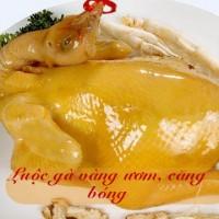 Mẹo luộc gà vàng ươm căng bóng