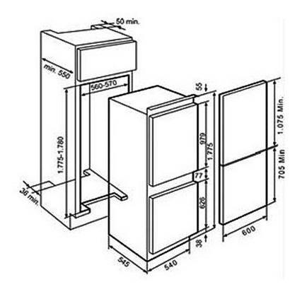 Lưu ý về kích thước lắp đặt tủ lạnh Teka CI2 350