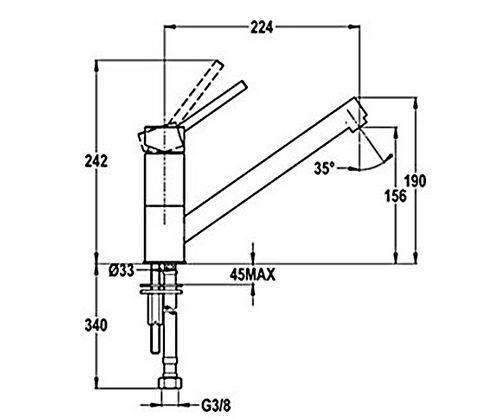 Lưu ý về kích thước lắp đặt vòi rửa bát Teka AUK 913