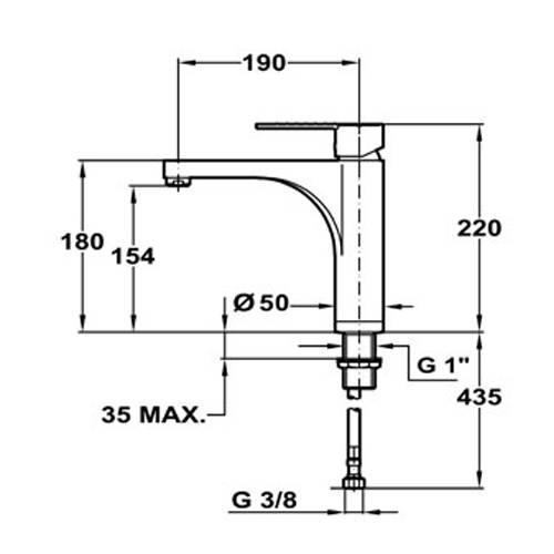 Lưu ý về kích thước lắp đặt vòi rửa bát Teka EXPRESSION