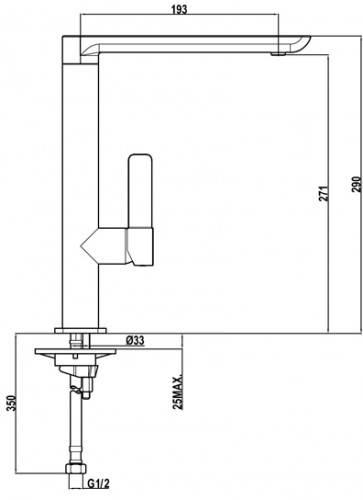 Lưu ý về kích thước lắp đặt vòi rửa bát Teka FO 915